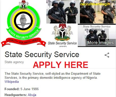 State Security Service Recruitment 2018/2019   Application Ongoing - www.dss.gov.ng