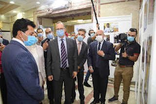 """""""صبحى """" يلتقي ممثلي منظمة اليونيسف في مصر ويتفقد معرضاً لمنتجات برنامج مشواري"""