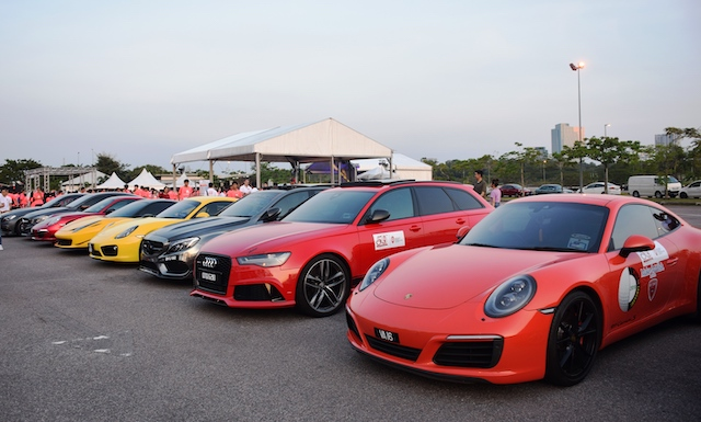 Supercars at the event