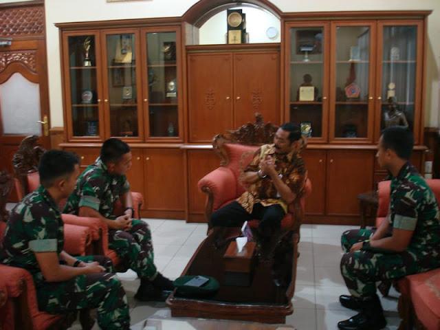 Danbrigif Mekanis Raider 6 Kostrad Silaturahmi ke Wali Kota Solo