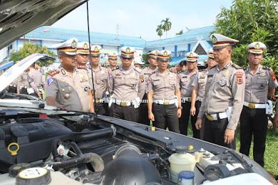 Dirlantas Polda Jambi Menggelar Kendaraan Operasional Lantas Dalam Rangka PAM Natal dan Tahun Baru