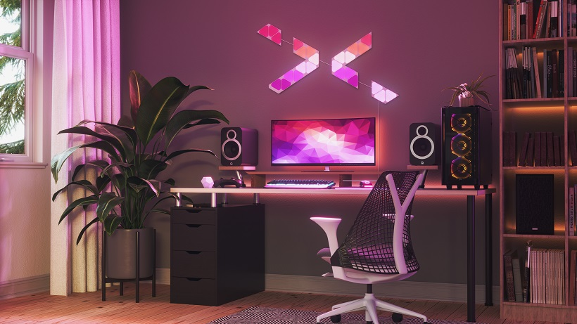 Nanoleaf launches Shapes Line, gaming-ready smart lighting system