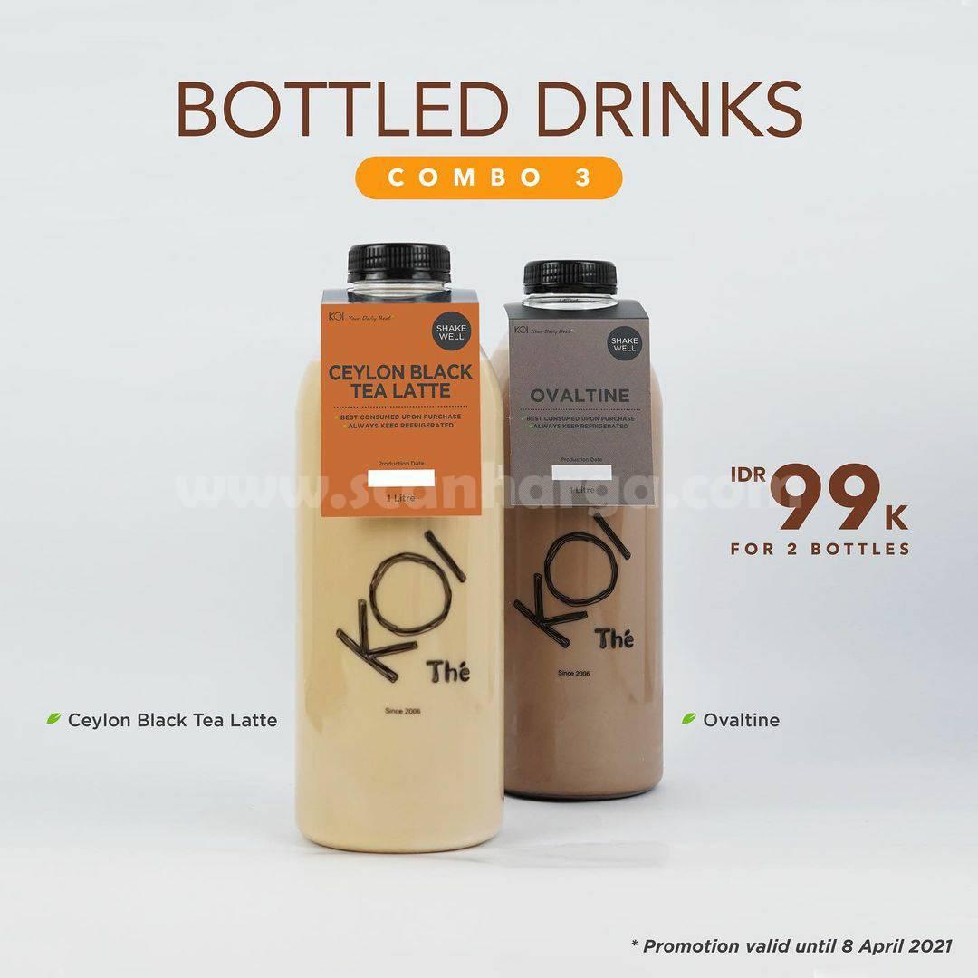 KOI Thé Promo 2 Bottled Drinks Combo Only IDR 99K