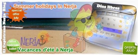 Disfruta tus vacaciones de julio en Nerja con nuestros mejores precios