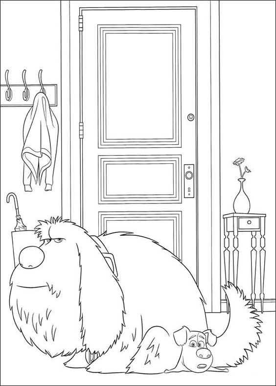Dogs coloring pages 37