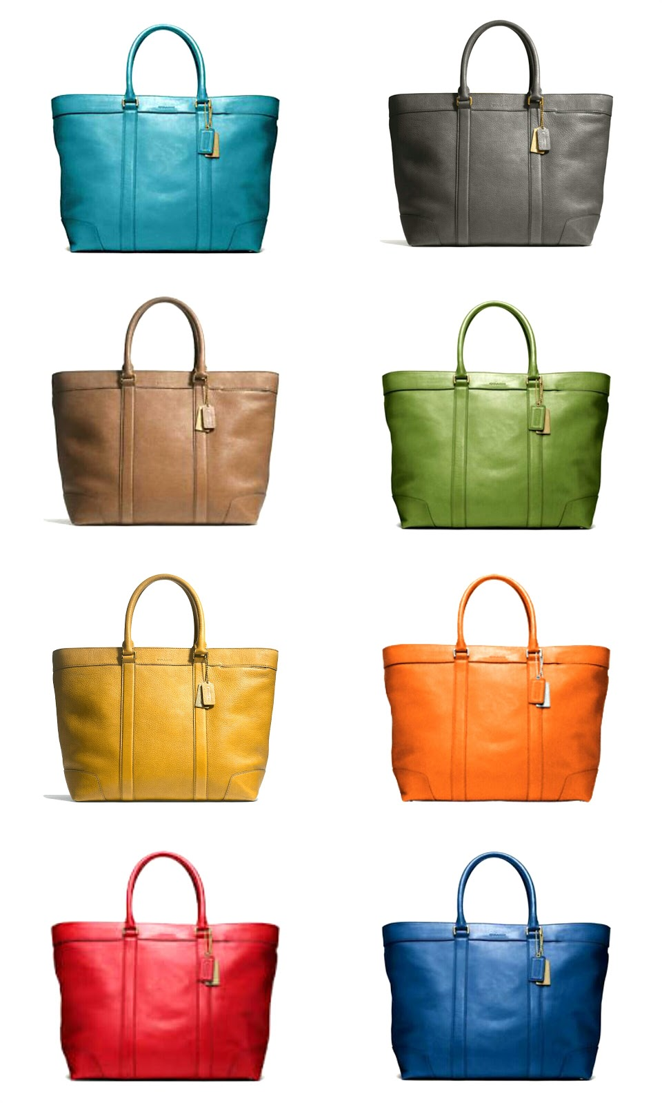 Coach, Bleecker, Tote, Bleecker Weekend Tote, 70487, Chili, Bonfire, Sand, Granite, Green, Ocean, Sky Blue, Mustard, Pantone, Color, Trends, Fashion, Sacs Magnifiques