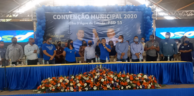 Elio Alencar e Elinho Alencar, são confirmados em convenção do PSD candidatos a prefeito e vice de Olho D'Água do Casado