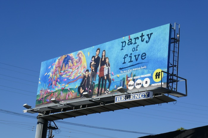 Party of Five series launch billboard