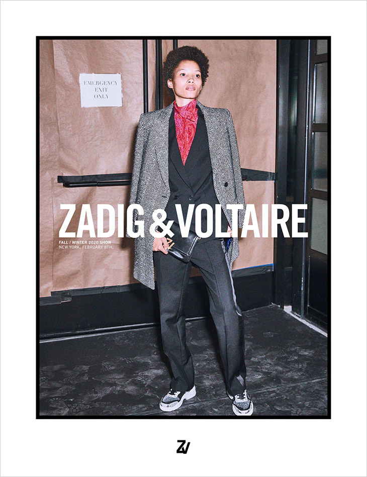 Photographer Fred Meylan captured Zadig & Voltaire's Fall Winter 2020.21 campaign