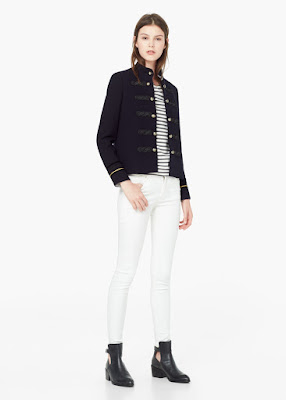 Mango Buttoned Jacket, Military Jacket