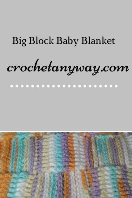 variegated yarn baby blanket
