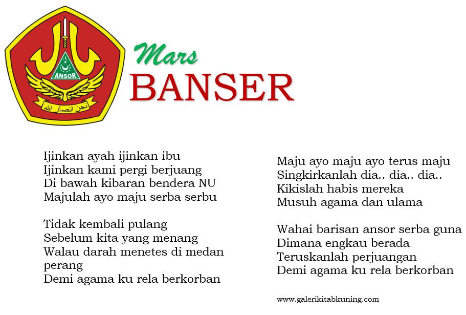 Lirik Lagu Mars Banser - Lengkap Gambar, Teks dan Mp3
