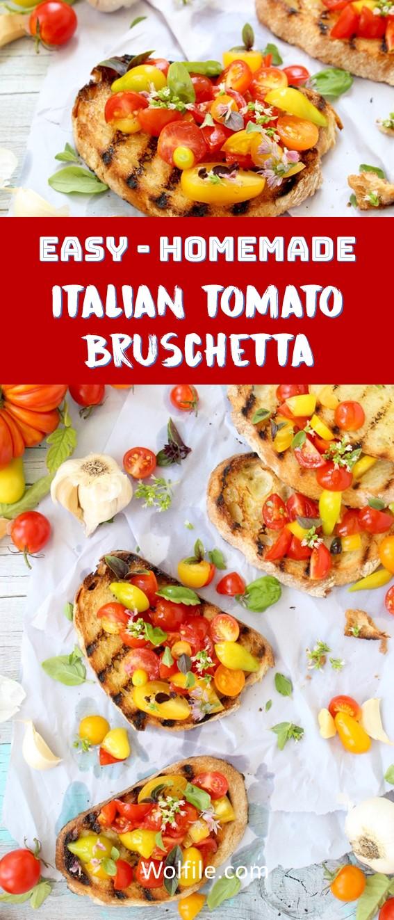 Tomato Bruschetta Recipe #Bruschetta #Italian