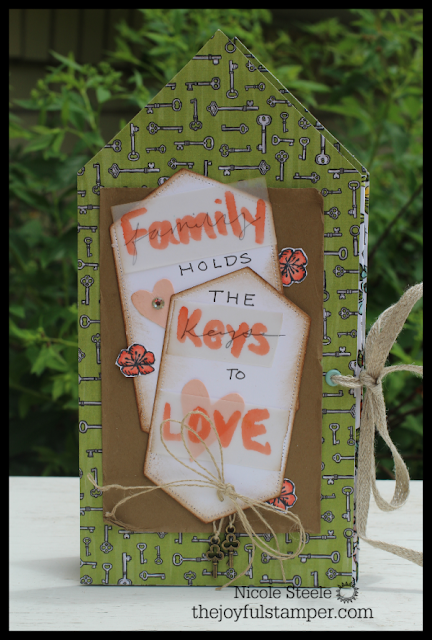 mini house photo album by Nicole Steele, The Joyful Stamper