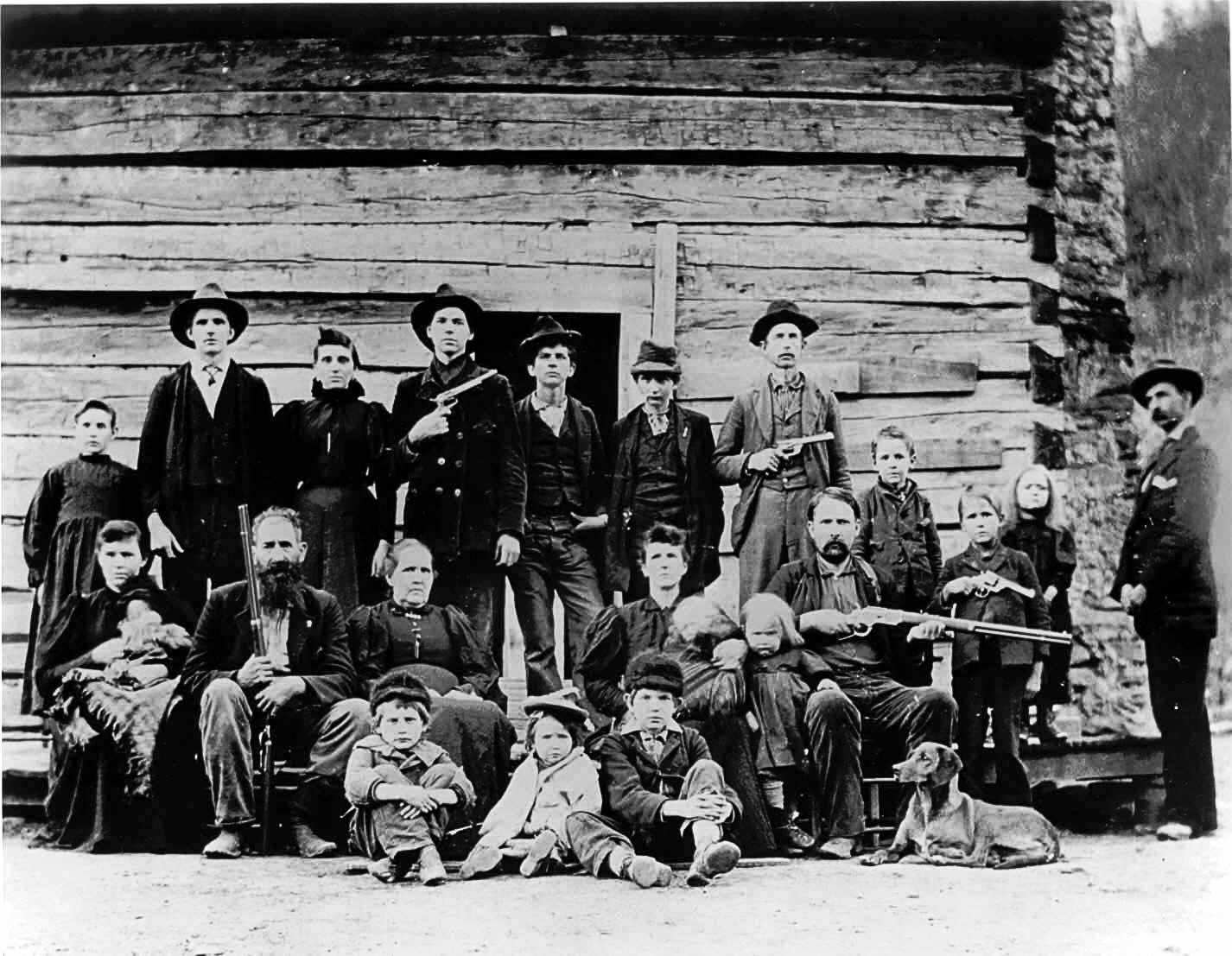 The Hatfield Clan of the Hatfield-McCoy-feud