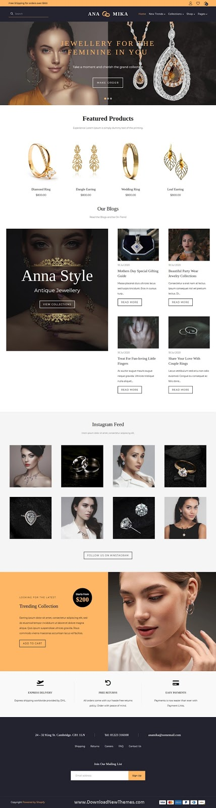 Jewellery Shopify Theme