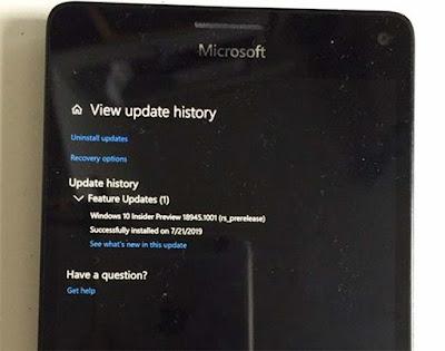 Windows 10 20H1 Update Bisa Berjalan Pada Ponsel Lumia 950 XL Melalui WoA?