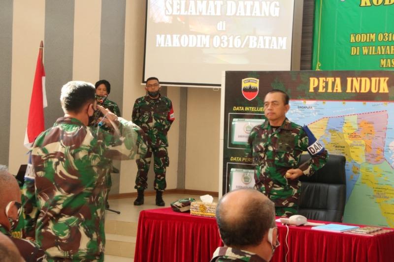 Kodim 0316/Batam Mengelar Latihan Posko I Perbantuan Kepada Pemerintahan Daerah Kota Batam