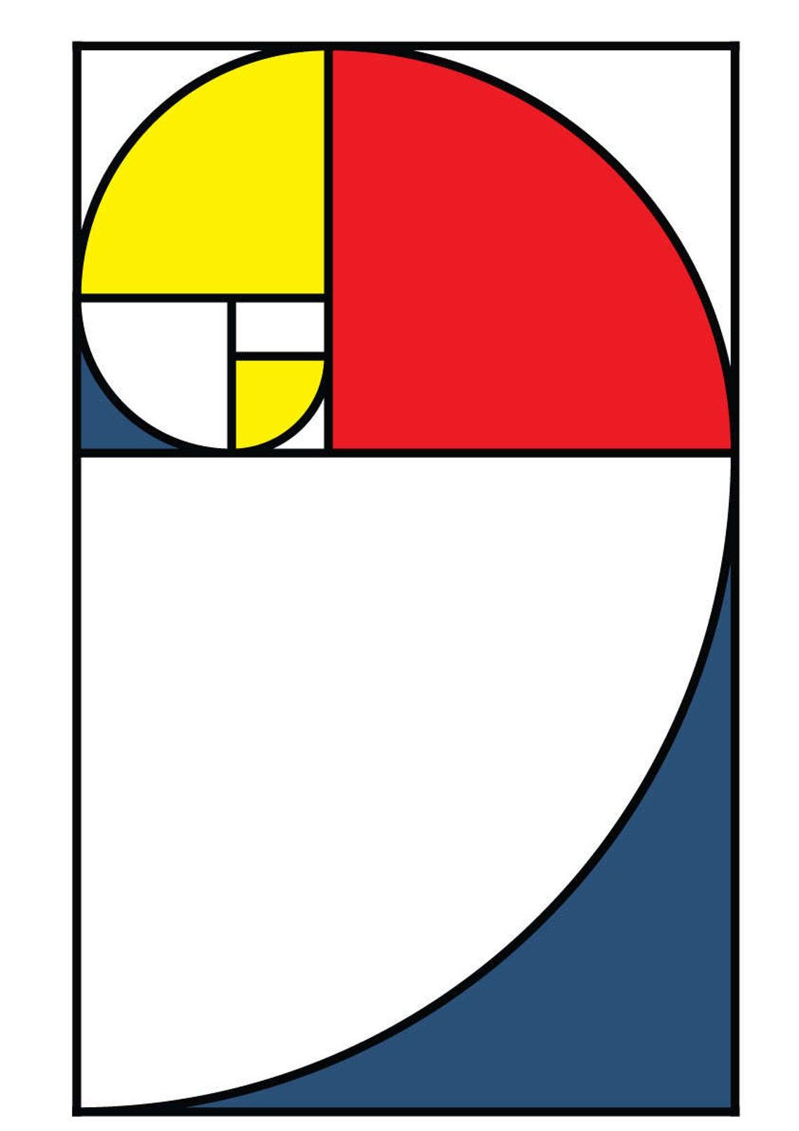 Artes com a Sequência de Fibonacci - Pintura