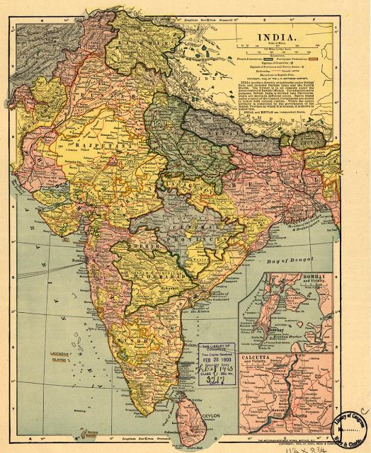 BRITISH INDIA MAP