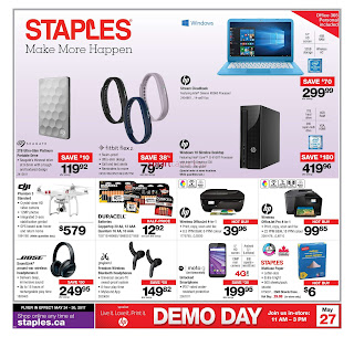 Staples Flyer May 24 – 30, 2017