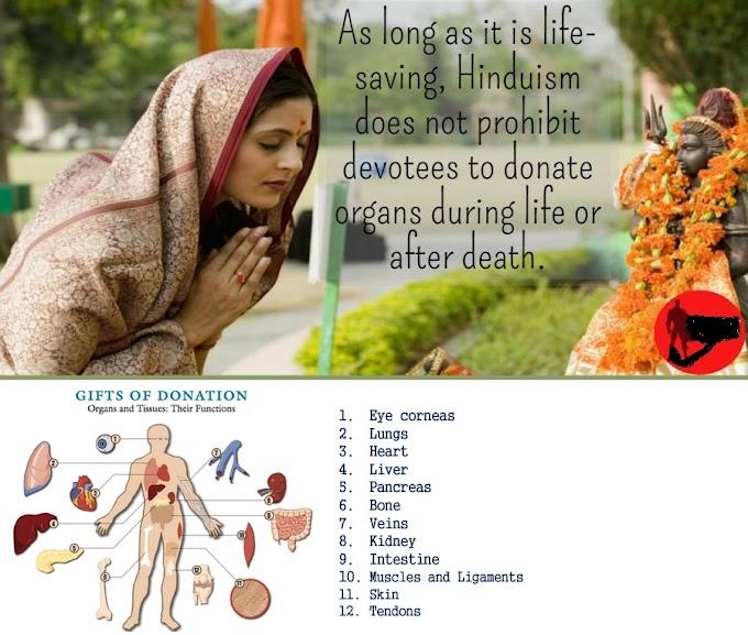 Organ donation is in keeping with Hindu beliefs