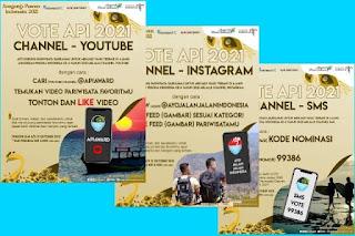 Cara Voting di Anugerah Pesona Indonesia API Award 2021