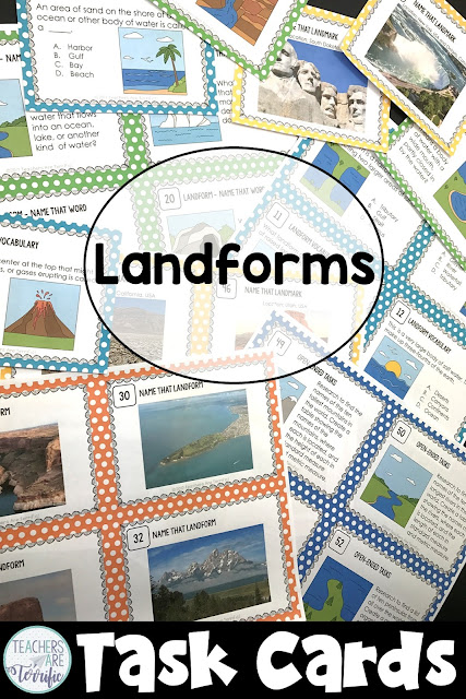 Task Cards for practicing landforms. Images, photos, and more!