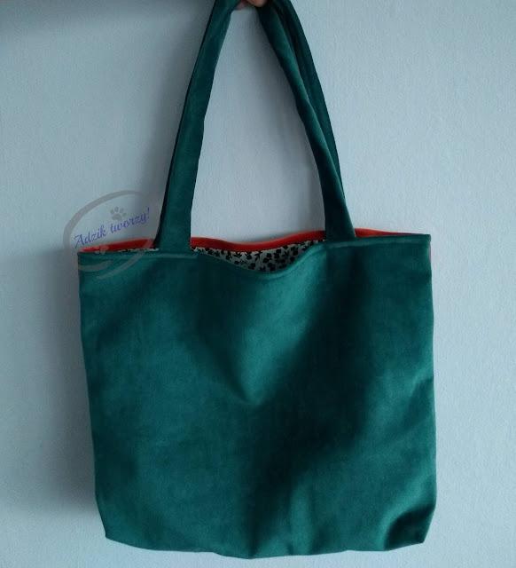 materiałowa torebka szycie rękodzieło - Adzik tworzy