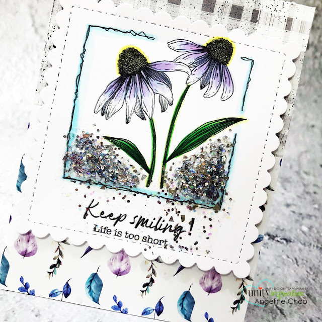 ScrappyScrappy: Unity Stamp May Release - Possible not easy #scrappyscrappy #unitystampco #cardmaking #papercraft #handmadecard #stamping #rubberstamp #possiblenoteasy #floralart #floralstamp #glitterific #decoart #copiccoloring #gracielliedesign #unitystamppaper #glitter