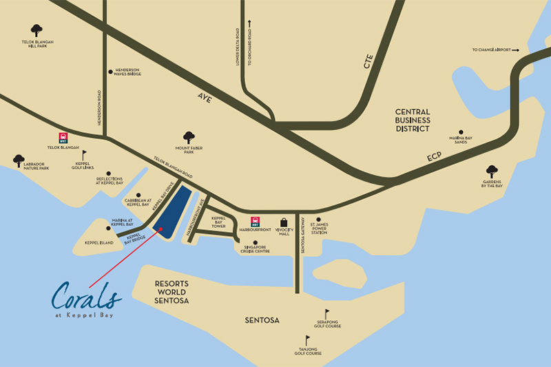 Corals at Keppel Land location map