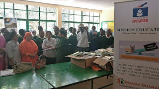 Mission Education team Kenya distributed books and stationery at Muthangari Primary School in Nairobi.
