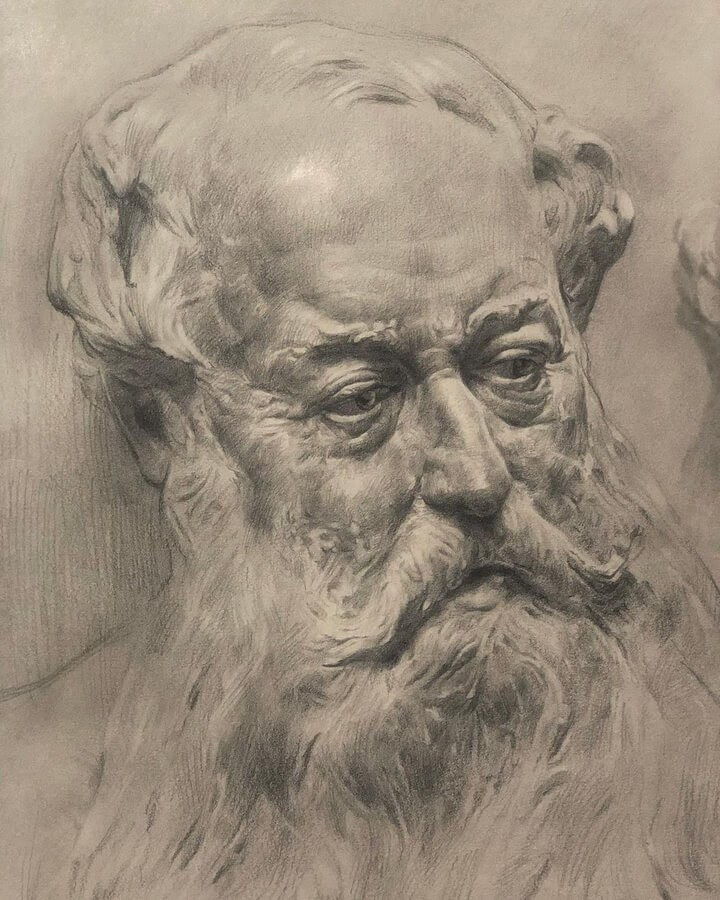 06-A-sketch-of-a-statue-Mehrdad-Jamshidi-www-designstack-co