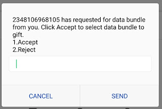 How to accept or rejecte data request on MTN