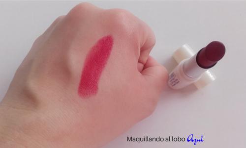 Swatch del labial ecológico Elegant Red de Neobio