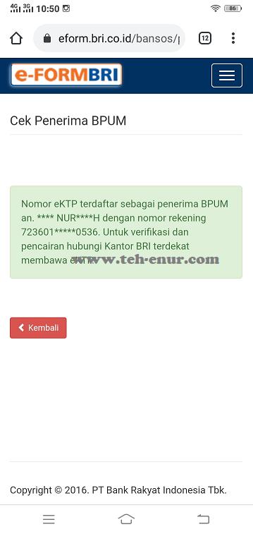 Aplikasi Untuk Pengecekan Pencairan Dana Banpres Produktif Usaha Mikro (BPUM)