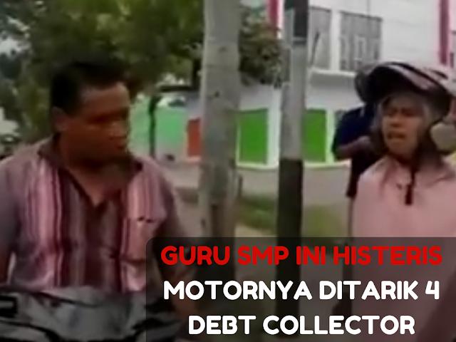 Diliput Saat Mau Merampas Motor Seorang Guru, 4 Debt Collecttor Marah dan Menantang Wartawan Berduel
