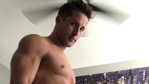 Hot Hunk Plays With a HUGE Dildo!