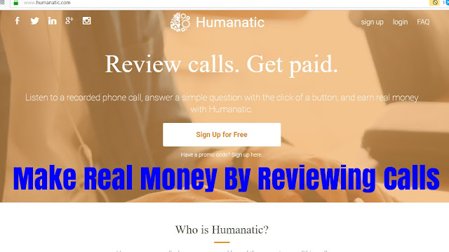 Humanatic work by reviewing calls