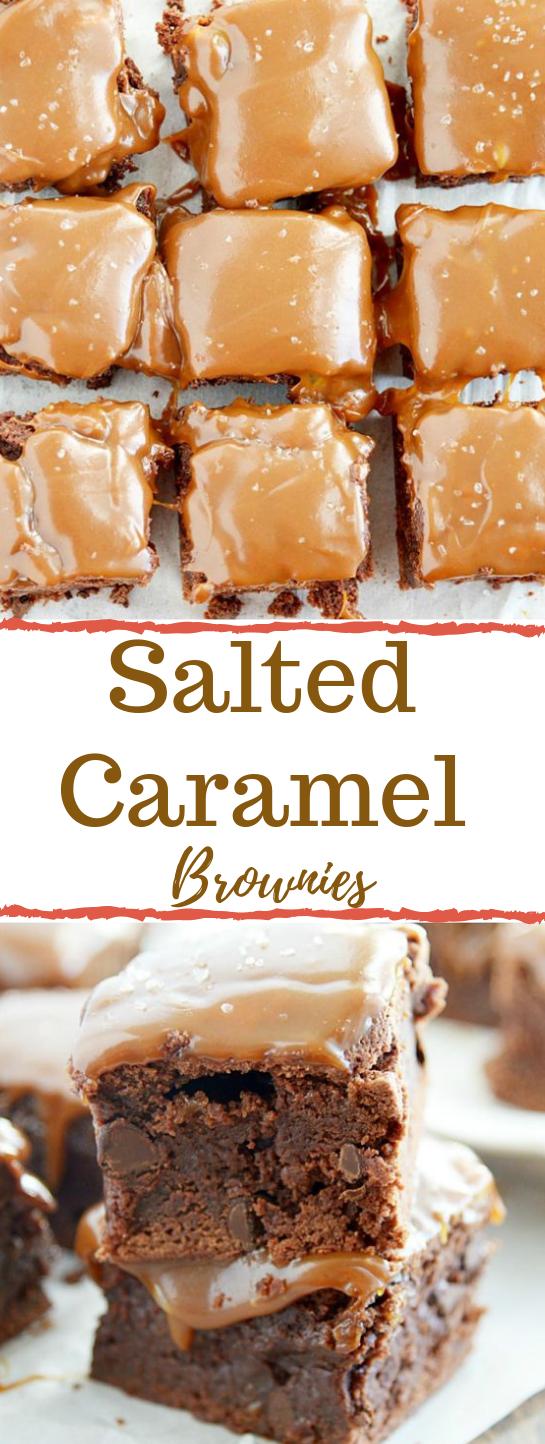 Salted Caramel Brownies #caramel #dessert #brownies #cake #yummy