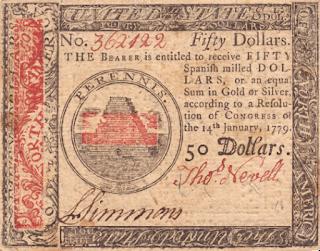 بعد وقت قصير من بدء حرب الاستقلال الأمريكية، بدأ الكونغرس القاري، الذي يعد بمثابة أول هيئة تشريعية وطنية، بإصدار أول عملة أمريكية.