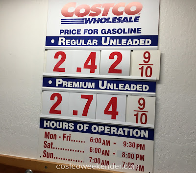Costco gas for November 8, 2016 at South San Francisco, CA (airport location)