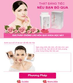 Giao diện blog landing page sản phẩm Viên uống Collagen