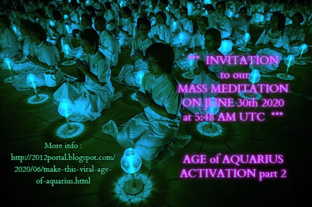 Mass Meditation - Age of Aquarius Activation ! (click on image for romanian blog)