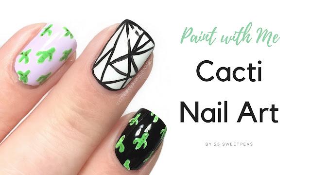 Cacti Nail Art Tutorial