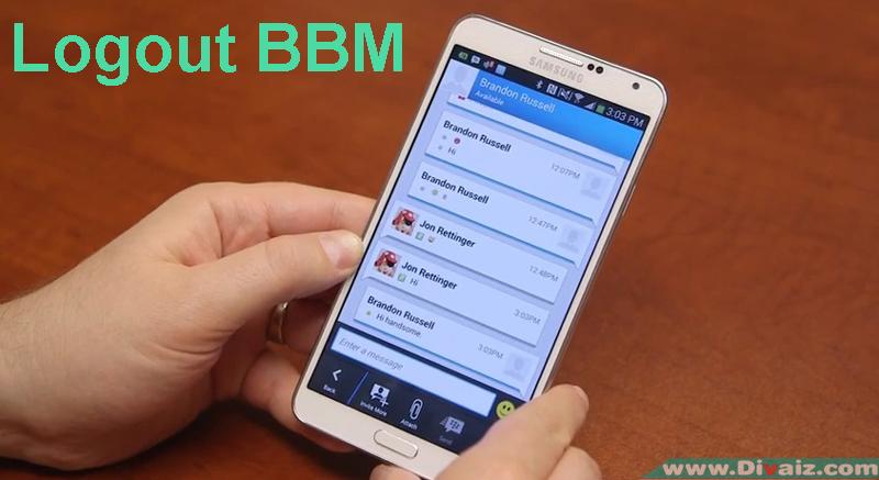 """Cara """"Logout"""" Keluar dan ganti PIN BBM di Android"""