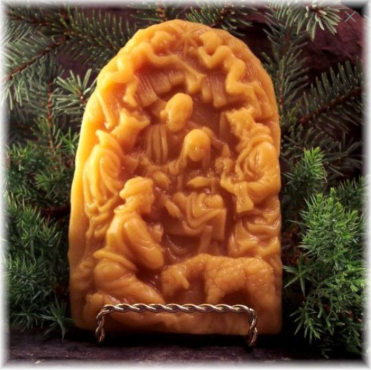 Exquisite Nativity Scene Beeswax Springerle