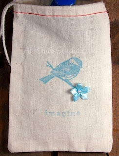 Little Bird Gift Bag Fabric Crafts