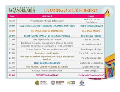 programa fiestas de la candelaria tlacotalpan 2020