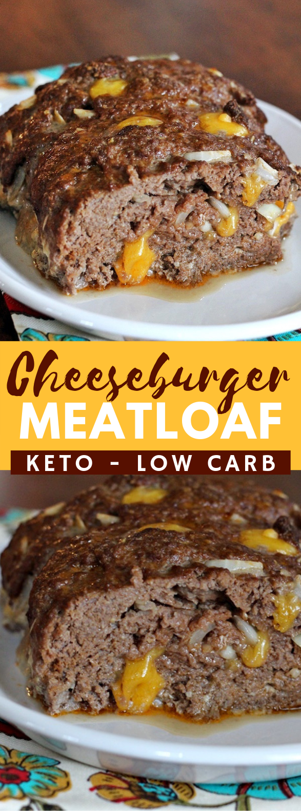 CHEESEBURGER MEATLOAF (KETO/LOW CARB) #diet #ketodiet